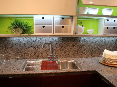 Solid Granite Backsplash